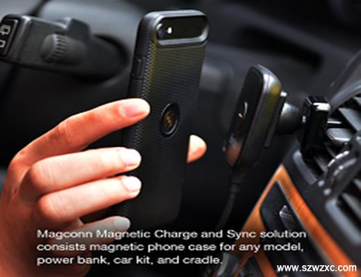 磁吸式充电和资料传输技术